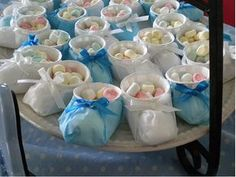 Zapatitos dulceros para baby shower ~ Portal de Manualidades