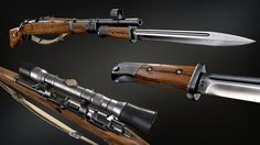 ArtStation - WW2 Kar 98 Mauser sniper rifle with bayonet, Israel Pargas