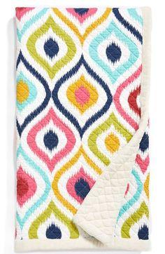 multi colored ikat throw blanket