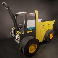 Take your little construction worker trick-or-treating in style with this dump truck wagon upgrade tutorial! Wagon Halloween Costumes, Wholesale Halloween Costumes, Halloween Kids, Halloween 2019, Dump Trucks, Blog, Holidays, Cars, Vacations