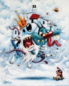 Vice King - 41 x 33 cm - Acrylique sur toile - Gilen - 2017 #gilen #gilenbousquet #painting #lowbrow #popart #popculture #toonart #iceking #viceking #vice #oggy #dirtybastard #nibbler #futurama # #ice #castle #cat #toonart #beautifulbizarre #king #monster #art #contemporaryart #vilains #villain #memepaspeur