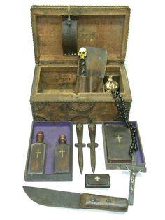 Original Antique 1800s Circa New Orleans Vampire Hunter Killing Slayer Kit Box | eBay