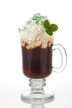 Irish coffee not only shows your support of the culture, but it also contains another favorite ingredient: coffee.