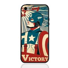 Captain America Superhero Phone Cover For iPhone 4S 5 5S 5SE 6 6S 6Plus iPod Touch 5th/6th Case - free shipping worldwide