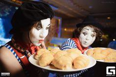 Mime Makeup, Clowns, Party, Food, Essen, Imperial Crown, Parties, Meals, Yemek