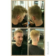 Training session at work Alan kindly being my model #no filters #skin fade#razor#first attempt# :)