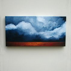 Original oil painting Landscape  dark sky  by Stormscapestudio, $178.00