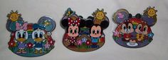 Disney Pin Lot HONG KONG Disneyland CUTIES Mickey Minnie Chip & Dale Daisy Duck