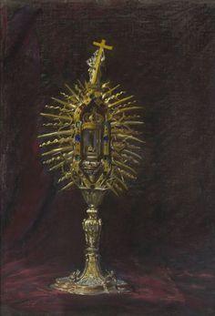 Relikwiarz z gwoździem Krzyża Świętego - Leon Wyczółkowski