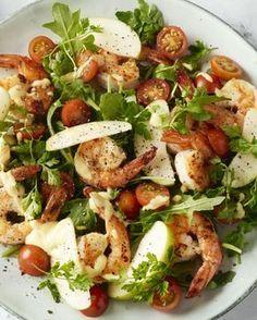 Scampi, currydressing en appel, een zalige combinatie! Maak er een heerlijke salade van. En nog eens lekker licht ook. Wat wil je nog meer?