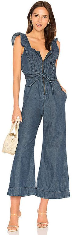 f125714b3e95 Shop for Free People Sun Valley Jumpsuit in Dark Denim at REVOLVE.