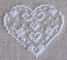 Cross Stitch Geometric, Cross Stitch Patterns, Crochet Placemats, Chicken Crafts, Cross Stitch Pictures, Cross Stitch Heart, Valentines Day Hearts, Lace Embroidery, Christmas Cross