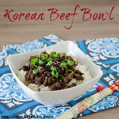 Korean Beef Bowl - (Wasn't sure where to pin this but since it's a meal in one thought this would be okay)