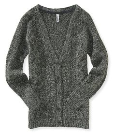 Cable Knit Boyfriend Cardigan from Aeropostale