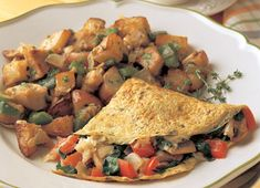 Spinach, Mushroom, and Mozzarella Omelette