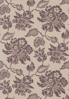 Helena #wallpaper in #brown from the Richmond collection. #Thibaut