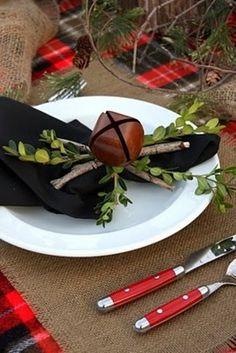 Branches comme décoration de mariage à Noël