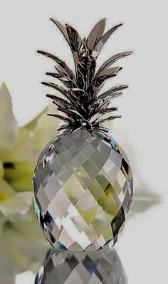 For Jennifer (Treen) Swarovski Pineapple, Crystal.I need this in my life :) Swarovski Crystal Figurines, Swarovski Crystals, Faceted Crystal, Glass Art, Christmas Bulbs, Room Decor, Bling, House Design, Holiday Decor