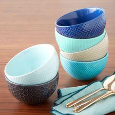 West Elm textured bowls