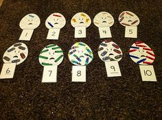 Preschool Math Activity one to one correspondence with Humpty Dumpty