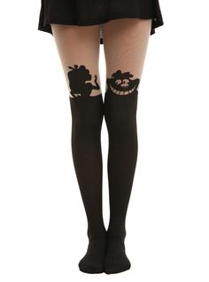 Disney Alice In Wonderland Silhouette Tights. Your legs need these.