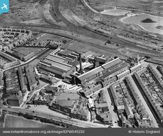 The Dunlop Rubber Co Ltd, Walton, 1934. Liverpool Town, Liverpool History, Liverpool England, Mount Pleasant, Factories, Aerial View, Old Pictures, Lantern, Past