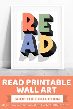 This read kids educational wall art print is perfect for your classroom decor, kid reading nook, or playroom! Art Wall Kids, Nursery Wall Art, Art For Kids, Girl Nursery, Classroom Signs, Classroom Decor, Superhero Classroom, Playroom Ideas, Nursery Ideas