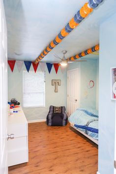 Swimming hobby themed room by Sunshine on a Ranney Day.
