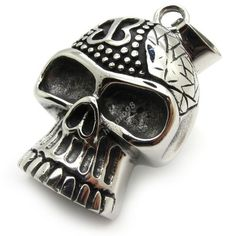 butterfly skull head 316L Stainless Steel men's silver Pendant necklace chain - $65nok (free)