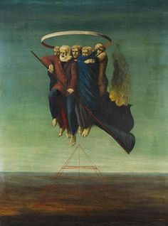 Edgar Ende (German, Die Brennende Fahne, oil on canvas, private collection Father of fantasy author Michael Ende (The Never Ending Story) Art And Illustration, Illustrations Posters, Arte Horror, Surreal Art, Macabre, Occult, Dark Art, Art History, Contemporary Art