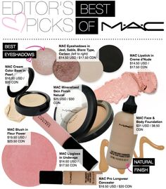 The Best of MAC! Such a good list to have!