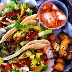 Korean tacos - from Blossom Tree in Atlanta, GA