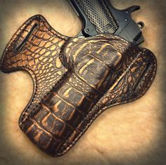 Savoy Leather - Almost Gator, $129.99 (http://www.savoyleatheronlinestore.com/almost-gator/)