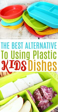 These are the best alternative plates for kids if you don't want to use plastic. #lovethemsomuch #bestkidsdishes #gogreen www.thesearchforimperfection.com