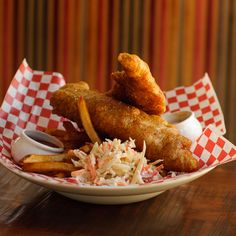 Nova Scotia Red Beer Batter Fish and Chips with Bacon Tartar Sauce