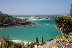 View out over Carbis Bay towards St Ives harbour  #carbisBay #stIves #beach #cornwall