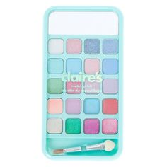 Miss Glitter the Unicorn Cell Phone Bling Makeup Set - Turquoise, Claire's Makeup, Cute Makeup, Makeup Cosmetics, Star Makeup, Makeup Kit For Kids, Kids Makeup, Justice Makeup, Baby Doll Accessories, Cosmetic Sets