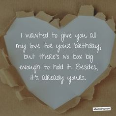 33 Romantic Birthday Wishes That Will Make Your Sweetie Swoon Birthday wish for a boyfriend or girlfriend The post 33 Romantic Birthday Wishes That Will Make Your Sweetie Swoon & Saying Happy Birthday appeared first on Happy birthday . Birthday Quotes For Girlfriend, Birthday Greetings For Boyfriend, Birthday Message For Boyfriend, Happy Birthday Quotes For Friends, Birthday Wish For Husband, Happy Birthday For Him, Birthday Wishes Quotes, Happy Birthday Husband Romantic, Girlfriend Quotes