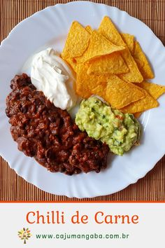 Chili Mexicano, Sour Cream, Comida Latina, Doritos, Party Drinks, Mexican Food Recipes, Carne, Tapas, Nom Nom