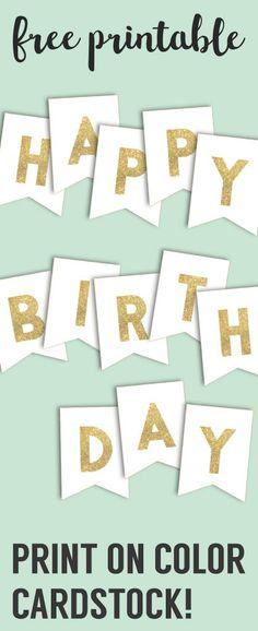 Free Printable Birthday Banner Printable birthday banner, Free - free printable happy birthday banner templates
