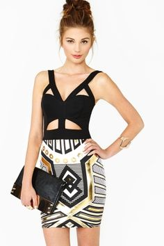Metal Future Dress by Nasty Gal