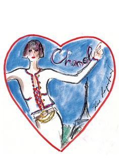 Who doesn't adore Chanel and Paris? (Image courtesy of Chanel; Sketch by Karl Lagerfeld)