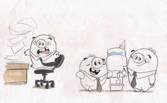 Desenhos de Sandro Cleuzo para o filme Angry Birds | THECAB - The Concept Art Blog