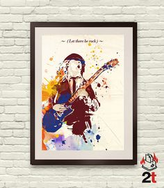 AC/DC Angus Young Street Style Poster  Digital by 2ToastDesign, $14.95