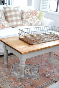 Absolutely love this!!  I mean the table and basket, but the colors would be great for spring and summer.