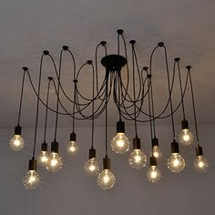 Fuloon Vintage Edison Multiple Ajustable DIY Ceiling Spider Lamp Light Pendant Lighting Chandelier Modern Chic Industrial Dining(14 head cable 200cm/78.7inch each) Fuloon http://www.amazon.com/dp/B010FG61P6/ref=cm_sw_r_pi_dp_jklcwb0WRREPQ