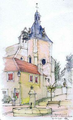 20110331 Bergerac, Place Pélissiere | This little sketch rev… | Flickr