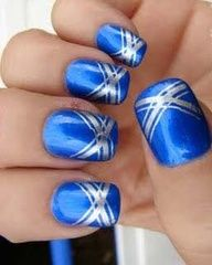 I can see this with many different base coat colors. classy nail art - Google Search