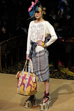 VIVIENNE WESTWOOD.  Hideous!   Someone would actually wear this?  And the shoes?   Lol!  Omg!