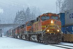 BNSF 4797 Snow at Scenic - S LPCTAC1 11A W Scenic, Washington New Santa Fe, Lake Stevens, Bnsf Railway, Oak Harbor, Choo Choo Train, Burlington Northern, Diesel Locomotive, Train Tracks, Netflix